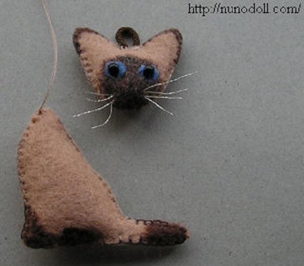 котёнок из фетра, как сшить котёнка